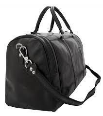 leather travel bag black leather