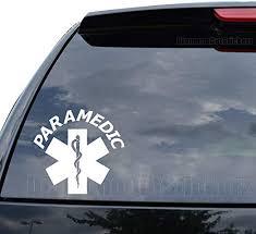 Amazon Com Diamondcutstickerz Paramedic Star Of Life Decal Sticker Car Truck Motorcycle Window Ipad Laptop Wall Decor Size 11 Inch 28 Cm Wide Color Gloss White Home Kitchen