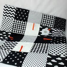montessori baby gym nursery rug black