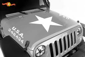 Product 2 Jeep Wrangler U S A Army Hood Vinyl Decal Sticker