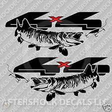 4x4 Truck Muskie Fishing Decal Sticker 290595955