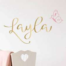 Name Wall Decal Fancy Name Decal Gold Name Decal Any Word Etsy