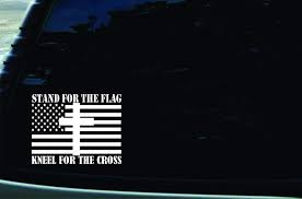 Amazon Com Southern Fried Decals 6 X 4 5 Stand For The Flag Kneel For The Cross Vinyl Die Cut Decal For Your Car Truck Window Laptop Macbook Or Virtually Any Other Smooth Surface
