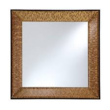 square beveled wall mirror