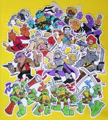 Ninja Turtles Vinyl Stickers Die Cut Tmnt Decals Leonardo Michelangelo Raphael Donatello Shredder More Sold By Neon Panther On Storenvy