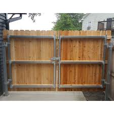 Hoover Fence Industrial Double Gate Frame 2 Galvanized Square Hoover Fence Co