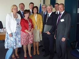 Diane Dodds leads fishing delegation n Strasbourg. | Flickr