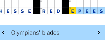 Nyt Crossword Writers Playing Favorites I See Fencing