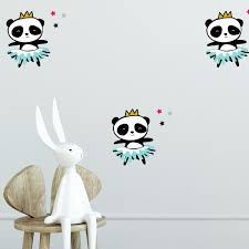 Panda Ballerina Wall Decal Set Labeldaddy