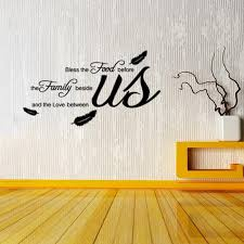 Aw9114 Bless The Food Before Quote Wall Sticker Family Love Between Us Vinyl Wall Decal Quote Stickers Feather Stickers Wall Decal Tree Wall Decal Vinyl From Fst1688 6 67 Dhgate Com