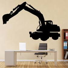 Large Digger Construction Building Wall Decal Sticker Ws 17304 Ebay