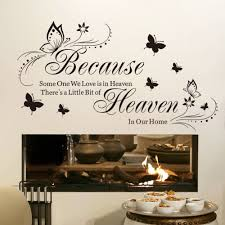 Because Someone We Love Is In Heaven Black Beautiful Butterfly Art Quotes Wall Stickers Decal Room Decor Sticker Cube Sticker Formstickers Kitchen Aliexpress