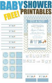 boy baby shower free printables how