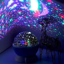 Amazon Com Led Night Lighting Lamp Elecstars Light Up Your Bedroom With This Moon Star Sky Romantic Best Gift For Men Women Teens Kids Children Sleeping Aid Home Kitchen