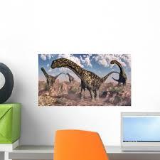 Argentinosaurus Dinosaurs Walking Rocky Wall Decal Wallmonkeys Com