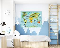 Map Wall Decals Kids Wall Stickers Wall Decor Mialma