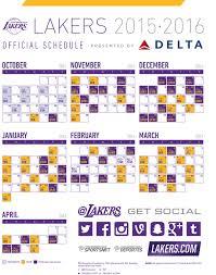 printable schedule los angeles lakers