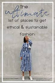 ethical and sustianable clothing brands