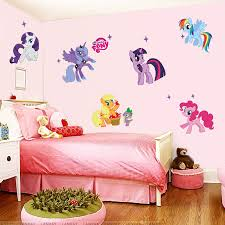 Cartoon My Little Pony Wall Stickers For Kids Room Decoration Anime Animal Unicorn Wall Mural Art Pvc Movie Poster Home Decals Wall Stickers Aliexpress