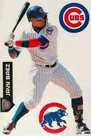Javier Baez Chicago Cubs 11 X17 4 Piece Fathead Teammates Wall Decals Ebay
