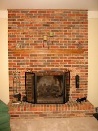 reno painting the red brick fireplace