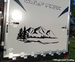 Rv Camper Graphics Scenery Wolf Mountain Moon Vinyl Sticker Die Cut Decal