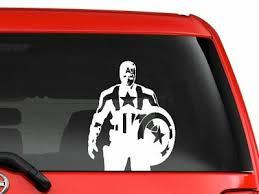 Captain America Marvel Superhero Cartoon Artwork Car Decal Sticker 6 White Ebay