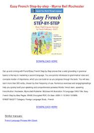 Easy French Step By Step Myrna Bell Rochester by Russell Yearous - issuu