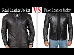 real leather vs fake leather jacket