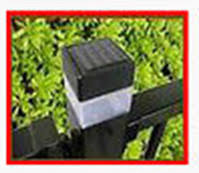 2 X 2 Inch Square Solar Fence Post Cap Light For Iron Fences Pool