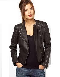brown black biker leather jacket