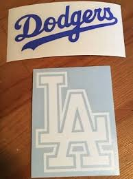 La Dodgers Two Set Car Window Decal Stickers Ebay