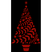 Beautiful Christmas Tree Vinyl Decal Sticker Large Dark Red Walmart Com Walmart Com