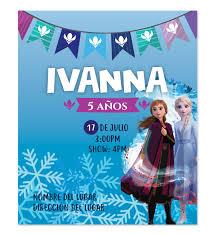 Invitacion Ana Y Elsa Frozen 2 Disenos Digitales Personalizados