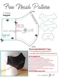 diy sewing pattern easy face masks