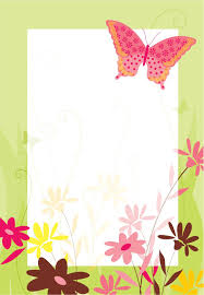 Flores Y Mariposa Invitacion Destacada Para Imprimir Gratis
