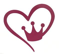 Amazon Com Custom Heart Shaped Crown Vinyl Decal Crown Bumper Sticker Tumbler Window Laptop Cup Auto Decal King Queen Or Princess Gift Pick Your Size And Color Handmade