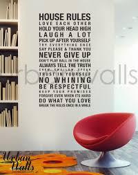Vinyl Wall Decal Sticker Art House Rules Etsy