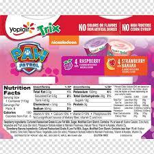 food yoplait trix yoghurt nutrition