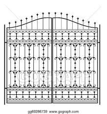 Eps Vector Wrought Iron Gate Door Fence Window Grill Railing Design Stock Clipart Illustration Gg69286739 Gograph