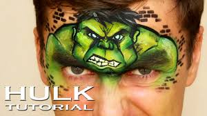 incredible hulk marvel face painting