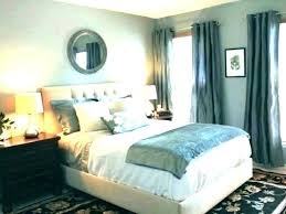 likable bedroom blue walls white trim