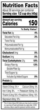 quaker oats nutrition facts elite