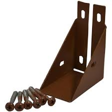 Steel 2 Wood Fence Bracket Wapoz The Home Depot Induced Info