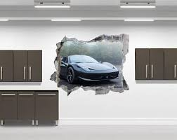 Ferrari Wall Crack Vinyl Decal The Decal Bros