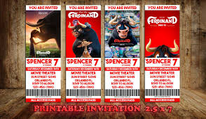 Ferdinand Ferdinand The Bull Ferdinand Movie Invite Ticket