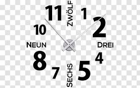 Clock Industrial Design Wall Decal Logo Text Modern Led Transparent Png