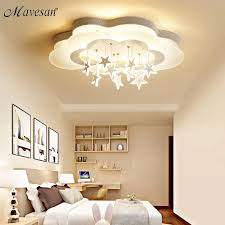 White Stars Led Celling Lights For Child Room Bedroom New Acrylic Moon Star Iron Body Modern Remote Control Lamp Lighting Ceiling Lights Aliexpress