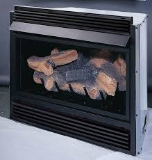 natural gas fireplace insert with