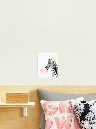Zebra Print Bubble Gum Nursery Art Zebra Wall Art Animal Kids Room Modern Art Wall Decor Photographic Print By Juliaemelian Redbubble